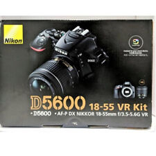 Nikon D5600 24,2 MP Cámara Digital Réflex Kit con AF-P DX NIKKOR 18-55mm f/3.5-5.6G VR Objetivo - Negra