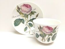 ROY KIRKHAM REDOUTE ROSES LARGE TEA CUP & SAUCER MADE IN ENGLAND AN EXCLUSIVE