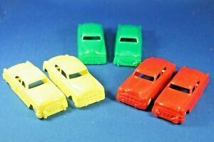 Plasticville - O-O27 - #V-6 - Original vintage 6 Autos - Excellent+++++