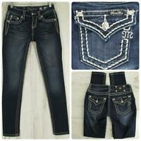 Miss Me Women's Distressed Skinny Jeans Embellished Size 25 Actual 26 x 32