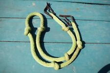 Lime Green Knotted Barrel Racing Reins- 5.5ft- Silver Tip Halters