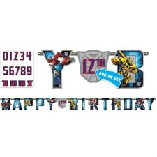 TRANSFORMERS Party Supplies Jumbo Banner + Add An Age Letter Birthday Decorate