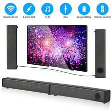 Bluetooth Sound Bar Wireless Bass Wired Subwoofer Home Theater TV Speaker Remote