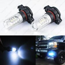 Ice Blue 80W H16 5202 2504 16-SMD LED Bulbs for Dodge Daytime Running Fog Lights