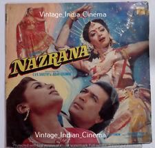Nazrana 1987 Bollywood LP Vinyl Record Rajesh Khanna, Sridevi, Smita Patil, Prit