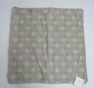 """Pottery Barn Kaila Trellis Print French Accent Pillow Cover Gray 20"""" sq #9520S"""