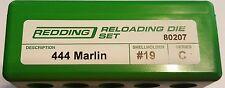 80207 REDDING 444 MARLIN FULL LENGTH 3-DIE SET - BRAND NEW - FREE SHIPPING