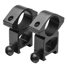 """Black Tall Height 1"""" Scope Ring Mounts fits Weaver Picatinny Rails"""