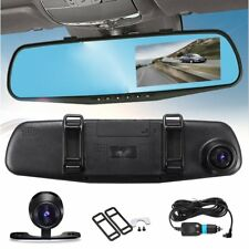 1080P HD Dual Lens Car DVR LCD Mirror Monitor Dash Cam Reverse Rear View Camera