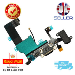 New Black Replacement Charging Dock Port Connector, Flex Cable For iPhone 5