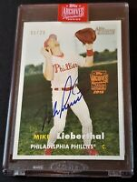2019 Topps Archives Signature 2006 Heritage Mike Lieberthal Auto #6/28 Phillies
