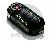 OEM NEW FIAT 500 500L GREEN METALLLIC AND BLACK KEY FOB DECORATIVE CLIP ON COVER
