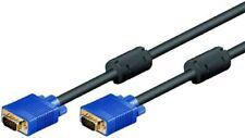 IMPORT 1 80m Monitorkabel Anschlusskabel VGA SVGA XGA Ferrit