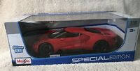 Maisto 1:18 Scale Special Edition Diecast Model - 2017 Ford GT (Red) VHTF!