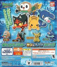 Bandai Pokemon Sun & Moon Pocket Monsters Swing Set of 4 Keychain Pikachu