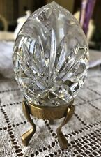 SHANNON DESIGNS OF IRELAND CRYSTAL EGG PAPERWEIGHT