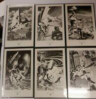 Batman Framed Cover Art 15x10 Set of 6 DC Comics 1988 120219DBT2
