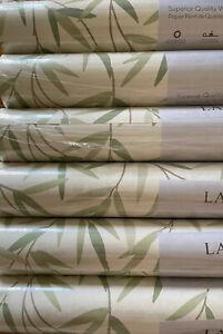 Laura Ashley Willow Leaf Hedgerow Wallpaper 6 Rolls Same Batch