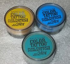 Maybelline Color Tattoo Pure Pigment -Loose Eye Shadow-3 piece lot