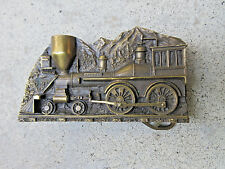 VTG 1977 CAPT HAWKS SKY PATROL GENERAL TRAIN LOCOMOTIVE BELT BUCKLE wPIPE NEW