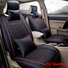 Standard Edition PU Leather Car 2 Front Seat Cover Cushion Mat For 5-Seats Car