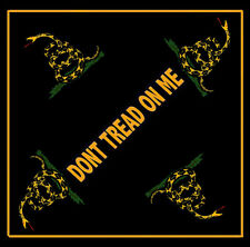 Gadsden Don't Tread On Me  Black Bandana with Snake