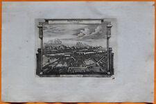 VAN DER AA Gravure originale c1725 VUE DE PONT-SAINT-ESPRIT Languedoc Gard Rhône