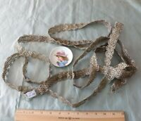 "Antique 19thC French Silver Metallic Passementerie Trim/Braid~L-136""X W-1"""