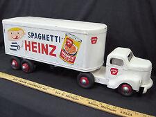1950s MINNITOY (Otaco) HEINZ SPAGHETTI Transport Truck Steel Toy