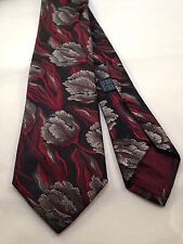 Anselnto Dionisio 100% Silk Tie Floral, Multi-Color, Short (< 57 in.) and Skinny
