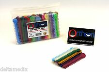 Dental Elastic Orthodontic Ligature Ties Bands Assorted Color /1040 Pcs ORTHOM