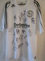 Derby 2007-2008 Squad Signed Home Football Shirt COA /10754