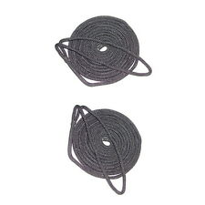 2 Pack of 3/8 Inch x 6 Ft Black Double Braid Nylon Fender Lines for Boats