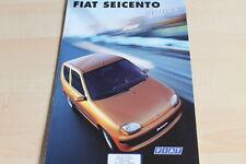 135080) Fiat Seicento - Hobby - Prospekt 01/1999