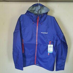 XL Montbell rain jacket men's cloth blue water resistant waterproof backpacker