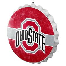 """Ohio State Buckeyes Bottle Cap Wall Sign Distressed Room Bar Decor Metal 13.5"""""""