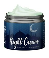 Noor 786 Halal Friendly Night Cream For Women & Men With Rose & Vitamin E, 80g