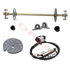 Rear Live Axle Kit w/ Disc Brake Sprocket Hub Rear End Parts fr Go Kart Rebuilds