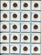 """2009P Lincoln Cent """"Formative Years- WDDR-024 Doubled Die-Thumb Tip X 20 Coins!"""