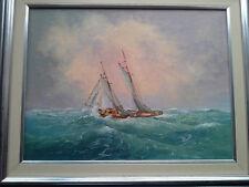 "John Manson Original Oil Painting ""Rough Sea"" Framed"
