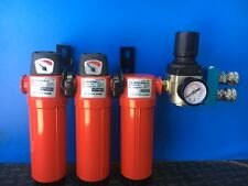 """3 STAGE 3/8"""" COMBINATION 3-4 PERSON WALL MOUNT BREATHING AIR FILTER SYSTEM"""
