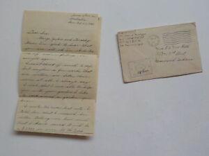 WWII Letter 1944 503rd Parachute Infantry Hammond Indiana Australia WW II WW2