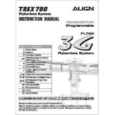 MANUALE ALIGN TREX 700 FLYBARLESS SYSTEM HELICOPTER INSTRUCTION FL760 3G