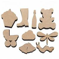 Wooden MDF Craft Shapes 50mm Birthday Cake Party Celebration Balloons Crown