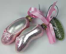 Pink Ballet Shoes Christmas Ornament Glass Midwest Season Canon Falls 2014 New