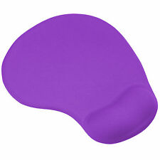 Purple Mouse Mat Pad with Comfort Gel Wrist Rest Support - By TRIXES