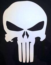 """Skull Punisher"" car window vinyl decal"