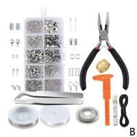 DIY Jewelry Making Kit Wire Anklets Sterling Beading Tools Craft Repair M0V6