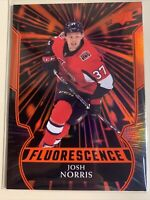 Josh Norris 2020-21 Upper Deck Series 2 RED FLUORESCENCE Rookie F-29 Senators