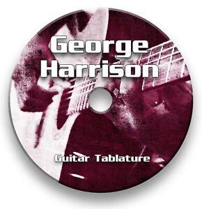 George Harrison Rock Pop Tabs Tablature Lesson Software CD - Guitar Pro